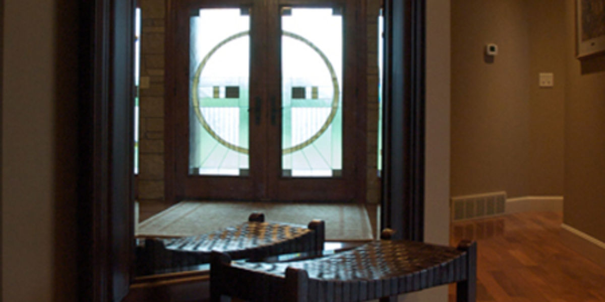 Entry view through hall mirror.